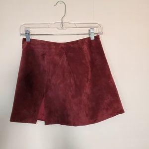 Vintage BEBE suede mini skirt sz. 4